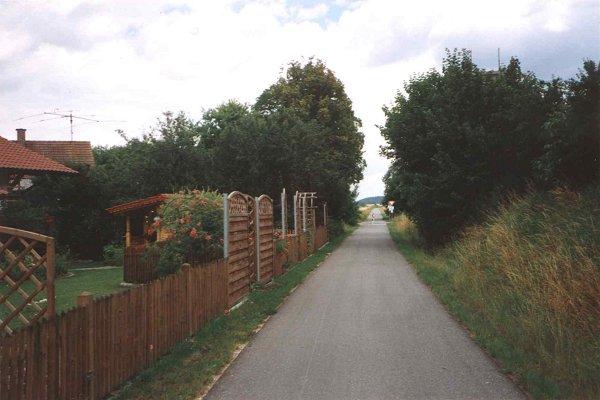 Der Bockerlbahnradweg in Haunersdorf